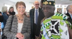 Chief Nana Ameyaw Gyensiama III, with the BFSS Director, Imogen Wilde