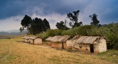 Dilapidated Ngobi Primary School, on the high plateau of South Kivu,
