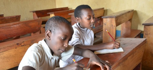 Children In Crisis - children in the rehabilitated primary school in South Kivu, DRC