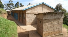 School building and toilet block funded by BFSS at Thingu school