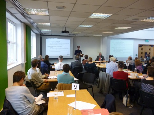 Dr Ben Ramm, Chair of BFSS Grants Committee, addresses the Workshop