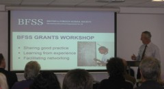 Professor Steve Hodkinson, Chair, introduces the Grants Workshop