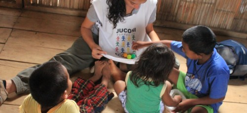 International Children's Trust - a family group session for street children in Guayaquil, Ecuador