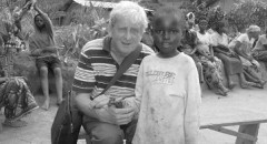 David Chaplin with children at Nyabigoma